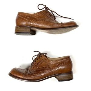 Joan & David Shoes - Joan & David Oxford Loafers Cognac Brown Tan Shoes